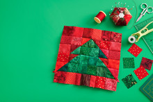 Christmas Tree Patchwork Block...