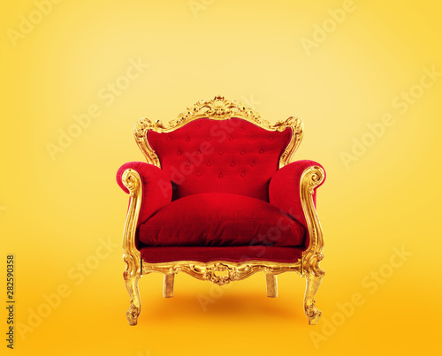 Red and gold luxury armchair. Concept of success Canvas-taulu