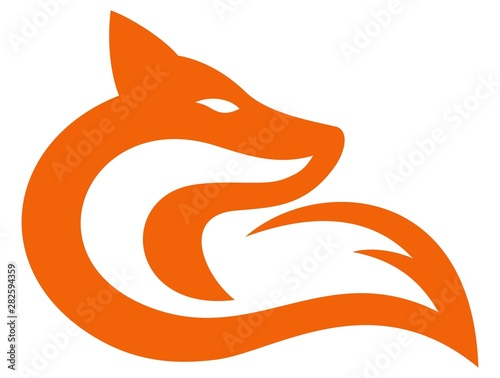 Fox abstract head and tail Canvas Print