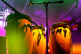 Conga drum instrument with colored background