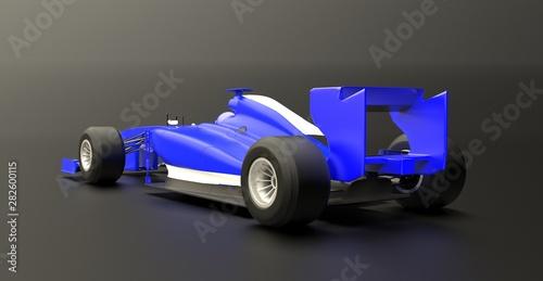 Fototapeta Red sport car ,race car,stylized,red car,3d render. obraz na płótnie