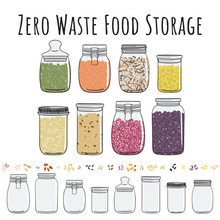 Zero Waste Storage In Jars For...