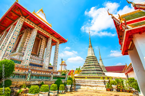 Buddhist temple in Bangkok Wallpaper Mural