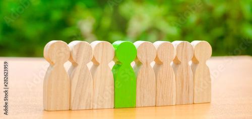 Fotografie, Obraz Wooden figures of people