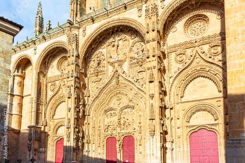 Fotografie, Obraz  Main facade of the new Cathedral of Salamanca
