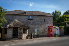Bus Stop At Osmington Village With War Memorial Bus Shelter