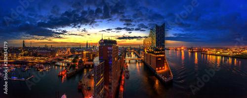 Fotomural  Sonnenaufgang Hambug