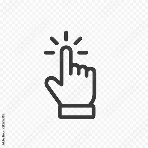 Cuadros en Lienzo  Click cursor icon isolated on transparent background