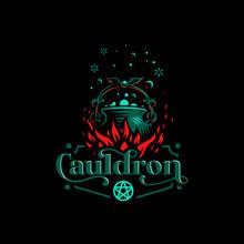 Magic Cauldron With A Bat Handle.
