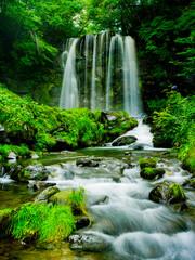 Obraz na Szkle Wodospad Beautiful Fall in Japan
