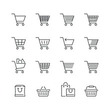Shopping Cart Related Icons: T...