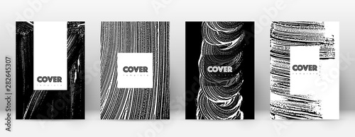 Fototapety, obrazy: Cover page design template. Hipster brochure layou