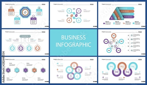 Set of startup or investment concept infographic charts Wallpaper Mural