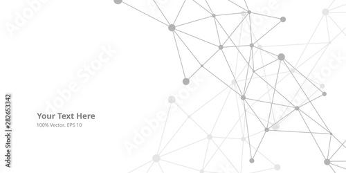 Fotomural  Futuristic crypto blockchain illustration