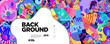 Colorful Abstract Banner Template with Dummy Text for Web Design, Landing page, and Print Material.
