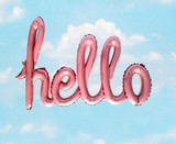 Fototapeta Panels -  pnk hello balloon