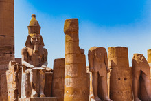 Ruined Thebes Egypt. Anscient Temple