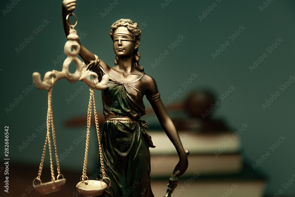 Fototapeta lady justice with  book
