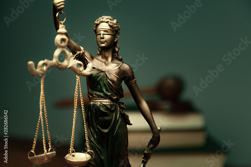 lady justice with  book - 282686542
