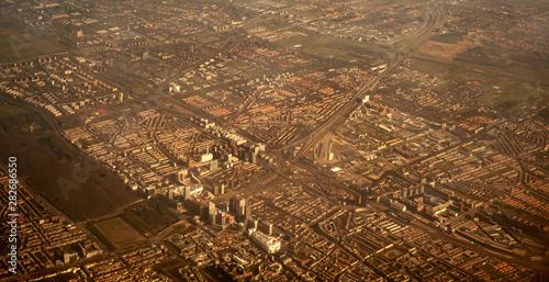 Valokuva  Aerial vieuw of an industrial city (IJmuiden, The Netherlands)