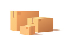 Carton Packs Vector Delivery I...