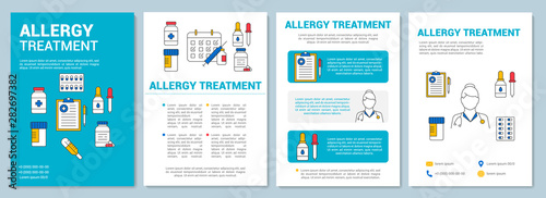 Photo Allergy treatment brochure template layout