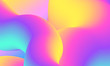 canvas print picture - Modern colorful abstract 3D flow shapes. Liquid wave gradient background.