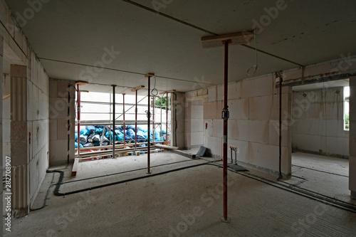 Aluminium Prints Industrial building hausbaustelle