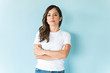 Self-Assured Woman In Studio