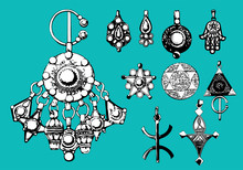 Arabic Jewelry Amazigh Touareg Vector