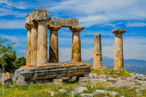 Vászonkép Apollo Temple in ancient Corinth