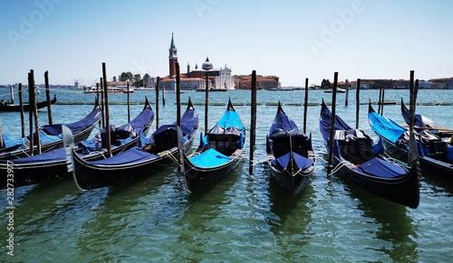 Fototapeta Venice gondolas obraz