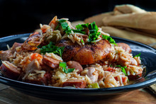 Shrimp Chicken Andouille Sausage Jambalaya