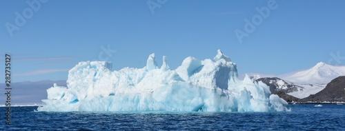 Autocollant pour porte Arctique glacier bleu en péninsule antarctique