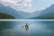 Kayaker In Mountains
