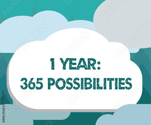 Conceptual hand writing showing 1 Year 365 Possibilities Canvas-taulu