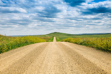 A Long Dirt Road In Rural Nort...