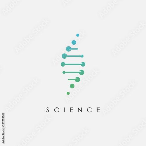 Fotografía DNA logo design template.icon for science technology