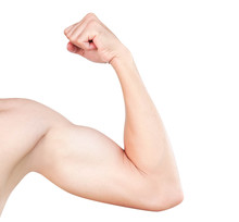 Asian Man Show Arm With Bicep ...