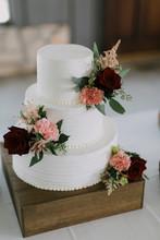 Modern White Wedding Cake With...
