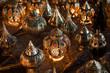 canvas print picture - lampen auf der strasse von marrakesh