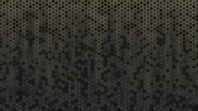 Abstract Background With Golden And Black Hexagons. Vector Honeycomb Wallpaper For Banner.