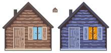 8bit, Arcade Style, Pixel House. Retro Game Design.