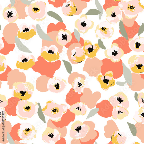 Slika na platnu Abstract floral seamless pattern