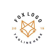 fox head outline vector icon logo illustration design