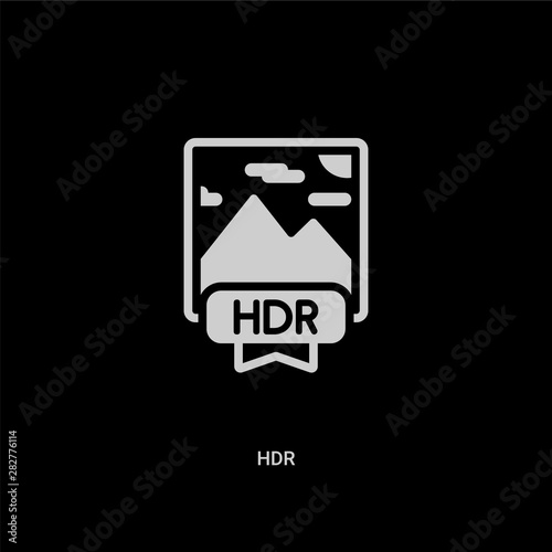 white hdr vector icon on black background Wallpaper Mural