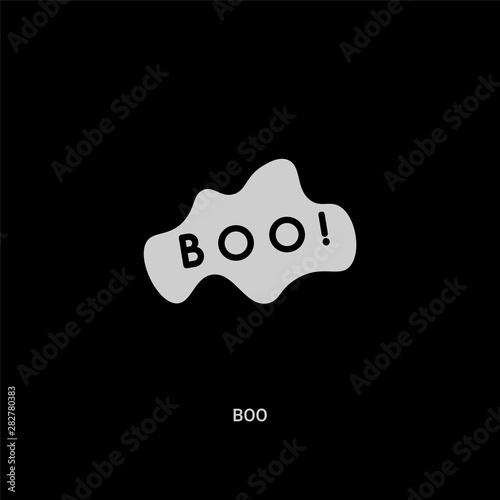Fényképezés  white boo vector icon on black background