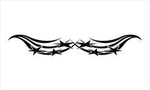 Vector Flat Tribal Tattoo Pattern, EPS 10