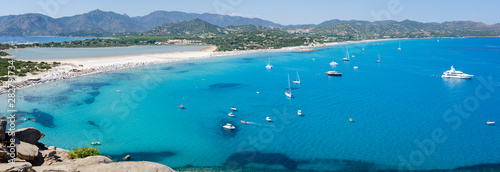 Villasimius Sardinia beach and landscape Porto Giunco Wallpaper Mural