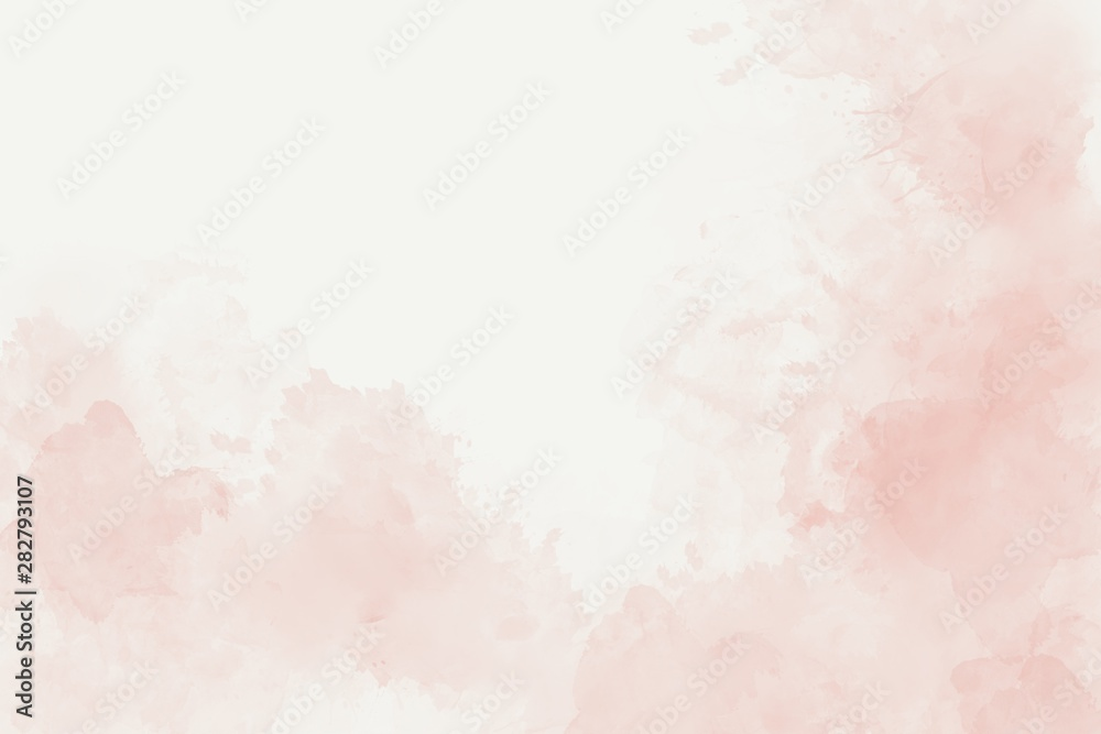 Watercolor soft pink abstract background